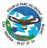 AUTOCOLLANT STICKER ADHÉSIF - POUR LE PARC DU MONT BLANC - CAF - FRAPNA - Stickers