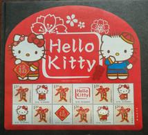 China POST 2016 Chinese Sanrio Hello Kitty Personalization Souvenir Sheet,MNH Stamp,Size About 203mm X185 Mm - Comics