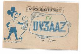 CARD DISNEY RADIO-AMATORI STATION MOSCOW TOPOLINO CON MICROFONO-FP-V-2-0882-29756 - Other