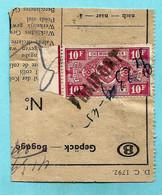 Spoorwegfragment, Afst. FRAIPONT 23/09/1945 - NOODSTEMPEL - 1942-1951