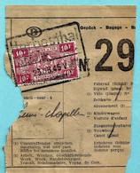 TR 255 Op Spoorwegfragment, Afst. HERBESTHAL 23/08/1945 + Treinnummer 5685 In Stempel / CANTONS DE L'EST - OOSTKANTONS - 1942-1951