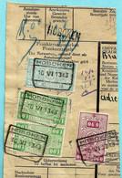 Spoorwegfragment, Afst. HOBOKEN 10/06/1943 + Griffe HOBOKEN - 1942-1951