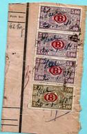 Spoorwegfragment, Manuscript IZEL 20/01/1941 - NOODONTWAARDING Bij Gebrek Aan Spoorwegstempel - 1923-1941