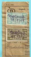 Spoorwegfragment, Manuscript MALMEDY 25/07/1945 - NOODONTWAARDING / OOSTKANTONS - CANTONS DE L'EST - 1942-1951
