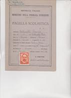 MARCA DA BOLLO  PRO VITTIME POLITICHE  SU PAGELLA  1946-1947 - Fiscali