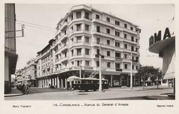 CASABLANCA (Maroc) - Avenue Général D'Amade Avec Le Trolley Bus - Cpsm état Neuf - Photo Flandrin - Casablanca