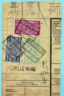 Spoorwegfragment, Afst. SENZEILLE 17/05/1942 + Griffe NEUVILLE-NORD - 1942-1951