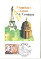 """MONACO-CARTE MAXIMUM """"1ere Liaison Hertzienne"""", Eugéne Ducretet 1973 - Maximumkarten (MC)"""