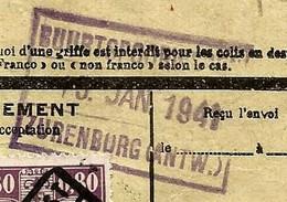 Spoorwegfragment, Afst. BUURTSPOORWEG ZURENBORG 15/01/1941 + Afst. ANTWERPEN OOST N° 8 - 1923-1941
