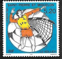 SPM  N° 643 Volley - Ball Variété Couleur Orange Décalée    Neuf  * * TB = MNH VF Voir Scans Soldé   ! ! ! - Volleyball