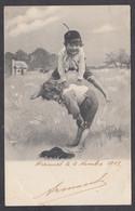 116899/ Garçonnets Jouant à Saute-mouton, 1903 - Groepen Kinderen En Familie