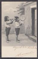 116900/ Garçonnets Avec Une Trompette Et Des Cymbales - Groepen Kinderen En Familie