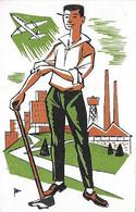 Campagne Pour La Sauvegarde De L'Enfance Et De L'Adolescence - Travailleur - Usine - Avion Masse - - Labor Unions