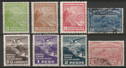 Chile 1931 Sc C22-9  Air Post Set Mixed - Chile