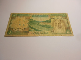 SAUDI  ARABIA    5  RIALS   KING  FAISAL  BILLET - Arabia Saudita