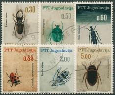 Jugoslawien 1966 Insekten: Hirschkäfer, Ölkäfer, Alpenbock 1158/63 Gestempelt - Used Stamps