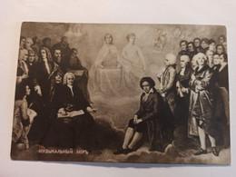Composer World -  Bach - Beethoven - Mozart  - Old Vintage Postcard - Singers & Musicians
