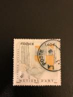 Timbre Oblitéré France 2020 Yt 5382 Métiers D'art La Gravure Cachet Rond - Usati