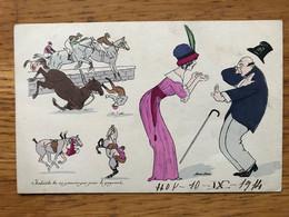 Illustrateur Xavier Sager  Imbècile Tu Ne Pouvais Pas Jouer Le Gagnant. Equitation. Edition B.G. París 576. - Sager, Xavier