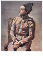 (EE 19) Pablo Picasso  - Art Painting - Arlequin - Pittura & Quadri