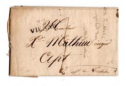 * - Lettre De 1828 De Vienne Pour Apt - Cachet 37 VIENNE Et Au Dos Cachet Rond Du 12 Janvier 1828 - 1801-1848: Voorlopers XIX