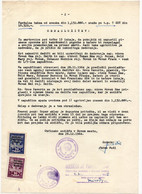 1964 YUGOSLAVIA,SLOVENIA,NOVO MESTO REGIONAL COURT,TAX ON US INHERITANCE,2 STATE REVENUE STAMPS - Covers & Documents