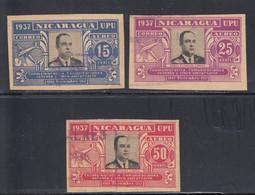 Nicaragua, Scott #C221H, C221J, C221K, Used, Gen Anastasio Somoza, Issued 1938 - Nicaragua
