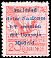 Spain 1929 Express League Of Nations Lightly Mounted Mint. - Unused Stamps