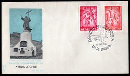 Argentina - 1960 - Lettre - Cachet Spécial - Ayuda A Chile - Emision Conmemorativa - A1RR2 - Oblitérés