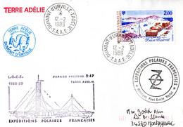 BELLE ENVELOPPE Des TAAF De 1989. Parfait état - Unclassified