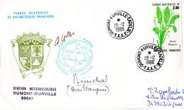 BELLE ENVELOPPE Des TAAF De 1986. Parfait état - Unclassified
