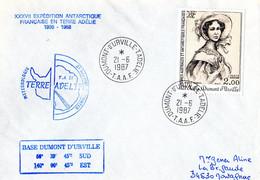 BELLE ENVELOPPE Des TAAF De 1987. Parfait état - Unclassified
