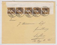 Schweiz1916 Tellknabe Im Eckrand Fünferstreifen Auf Brief Nach Bühler - Covers & Documents