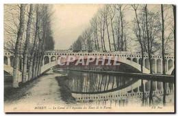 CPA Moret Le Canal Et L'Aqueduc Eaux De La  Vanne - Moret Sur Loing