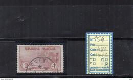 FRANCE OBLITERE - N° 154 (Dent Courte) - Used Stamps