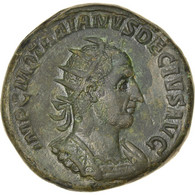 Monnaie, Trajan Dèce, Double Sestertius, Roma, TTB+, Bronze, Cohen:39 - 5. The Military Crisis (235 AD To 284 AD)