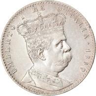 Monnaie, Eritrea, Umberto I, 2 Lire, 1891, Roma, SUP, Argent, KM:3 - Eritrea