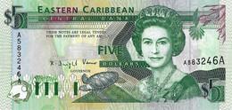 CARAÏBES ORIENTALES - ANTIGUA  1993  5 Dollar - P.26a Neuf -UNC - Caraibi Orientale