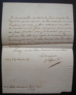 Davout Maréchal D'Empire Prince D' Eckmühl Duc D'Auerstaedt, Lettre De Savigny Du 29 Décembre 1815 à Leclerc à Metz - Historical Documents