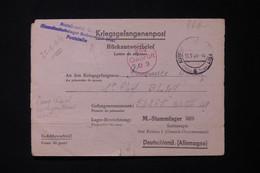 ALLEMAGNE - Lettre De Réponse Du Camp D'Auschwitz D'un Civil Français Pour Le Stammlager 369 (Pologne) En 1944 - L 84951 - Guerra Del 1939-45