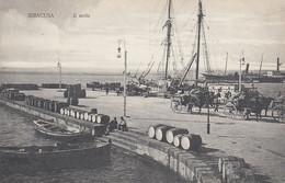 SIRACUSA-IL MOLO-CARICO E SCARICO MERCI-CARTOLINA NON VIAGGIATA 1910-1920 - Siracusa