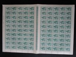 OBP584 In Volledig Vel (100 St.), Postfris** Maar Met Lichte Beschadiging Op Gom - Full Sheets
