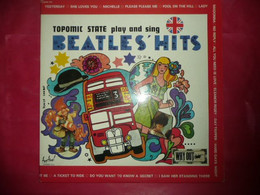 LP33 N°7538 - TOPOMIC STATE PLAY AND SING BEATLES' HITS - 143 - 2 LP'S - POP ROCK - COVER DE BEATLES - 45 Toeren - Maxi-Single