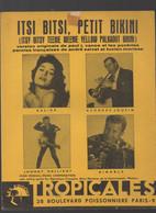 Partition Moyen Format: Dalida / Johnny  Hallyday :  Itsi Bitsi Petit Bikini  1960  (MPA PF 366) - Partituras