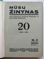 Lithuanian Book / Mūsų žinynas No. 8 1938, No. 6-7 1939 - Oude Boeken
