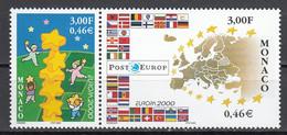 Monaco  Europa Cept 2000 Paar Postfris M.N.H. - 2000