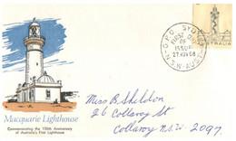 (EE 22) Old FDC - (Australia) 1968 - Macquarie Lighthouse - Phare De Macquarie - Ersttagsbelege (FDC)