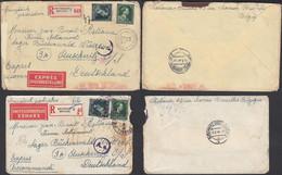 Belgique 1944 - Lot Of 2 Lettres Exprès Recommandées A/timbres 644+646 De Bruxelles 1 Vers Auschwitz. (DD) DC-9900 - Usati