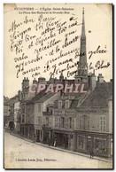 Pithiviers CPA L&#39eglise Saint Salomon La Place Des Halles Et La Grande Rue (Epicerie Faiencerie C - Pithiviers