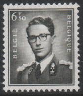 BELGIE Boudewijn Bril * Nr 1069A  (7) * Postfris Xx * WIT  PAPIER - 1953-1972 Occhiali